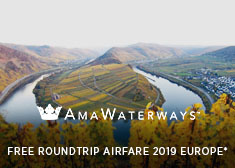 Free Roundtrip Airfare on 2019 Europe Sailings!