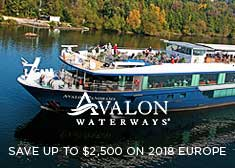 Save up to $2,500 on 2018 Europe Sailings!
