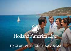 Exclusive World's Largest Cruise Sale – Secret Savings OR Free Beverage Package, up to $300 Free Onboard Credit, Free Specialty Dining PLUS More!