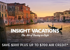 Land & See – Up to $700 Air Credit PLUS Save $300 on 2019 Escorted Tours!