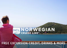 Free at Sea Exclusive – Up to Free Airfare, Free Beverage Package, Free Shore Excursion Credit PLUS up to $75 Free Onboard Credit AND More!