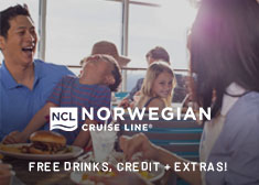 Free at Sea Exclusive – Up to Free Airfare, Free Beverage Package, Free Shore Excursion Credit, up to $75 Free Onboard Credit, Free 4-Night Resort Stay PLUS More!