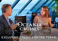 Exclusive World's Largest Cruise Sale – 2-for-1 Cruise Fares PLUS up to $250 Free Onboard Credit, Free Gratuities, Free Beverage Package AND Free Unlimited Internet!