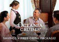 Prices Increase Soon! 2-for-1 Cruise Fares PLUS Secret Savings, Free Gratuities, Free Shore Excursions AND Free Unlimited Internet!