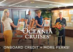 Exclusive World's Largest Cruise Sale – 2-for-1 Cruise Fares, Unlimited Internet PLUS Free Onboard Credit, Free Beverage Package, or Free Shore Excursions!