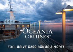 Exclusive World's Largest Cruise Sale – 2-for-1 Cruise Fares, $200 Free Onboard Credit, Free Gratuities, Free Beverage Package, Unlimited Internet, Free 4-Night Resort Stay PLUS More!