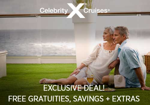 Celebrity – Exclusive Free Gratuities PLUS Free Onboard Credit and More!