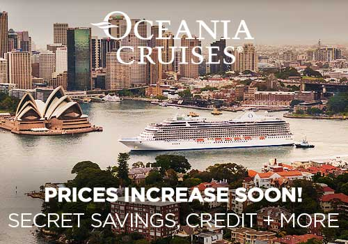 Prices Increase Soon! Avoya Advantage Exclusive – 2-for-1 Cruise Fares PLUS Secret Savings, Free Gratuities, Free Beverage Package AND Free Unlimited Internet!