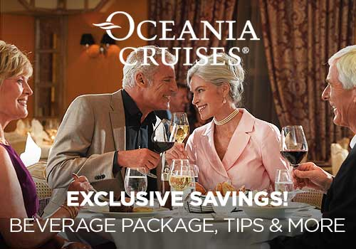 Avoya Advantage Exclusive – 2-for-1 Cruise Fares, Unpublished Savings, Free Gratuities, 5% of Your Cruise Fare as Free Onboard Credit, Free Beverage Package, Free Unlimited Internet PLUS Free 4-Night Resort Stay!