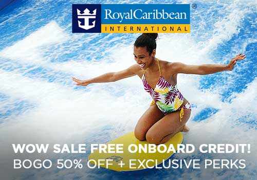 WOW Exclusive – Free Onboard Credit, Specialty Dining, Buy One Get One 50% Off Cruise Fares PLUS More!