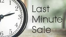 Announcing Our Exclusive Last Minute Sale!