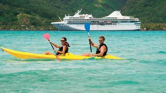 Paul Gauguin South Pacific cruise kayakers