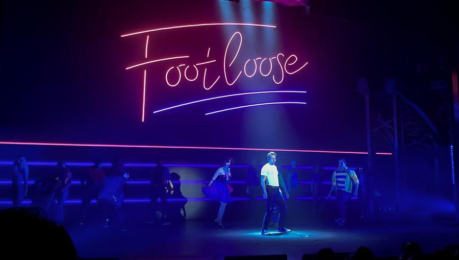 A stage view of Footloose: The Musical onboard Norwegian Joy.
