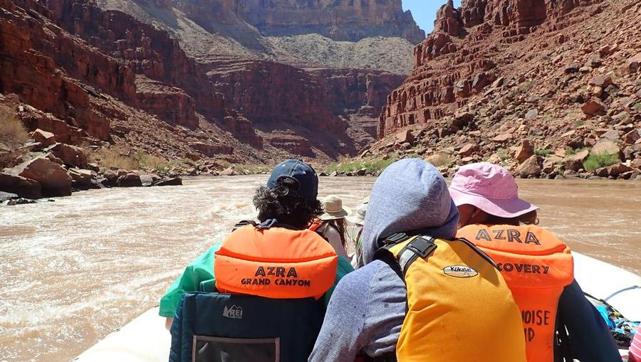 River rafting Colorado River at the Grand Canyon