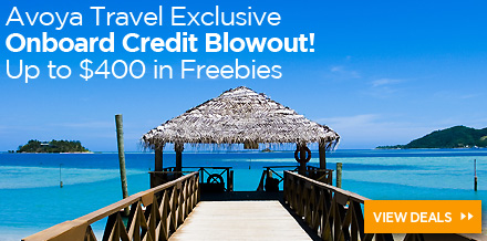 Avoya's Onboard Credit Blowout − Up to $400 in Freebies