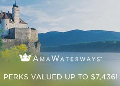 AmaWaterways: Perks Valued up to $7,436!