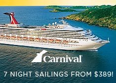 Carnival: 7+ Night Sailings from $389!