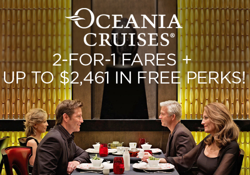 2-for-1 Fares + Up to $2,461 in Free Perks!