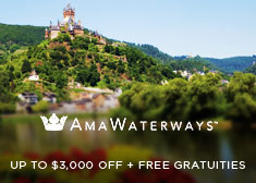 AmaWaterways: Up to $3,000 Off + Free Gratuities