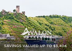 Avalon Waterways: Savings Valued up to $3,404