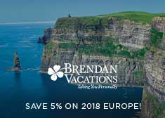 Brendan: Save 5% on 2018 Europe