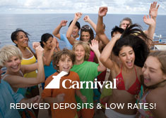 Carnival: Reduced Deposits & Low Rates!