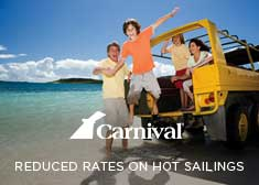 Carnival: Reducded Rates on Top Sailings