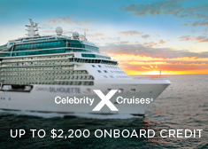 Celebrity: Up to $2,200 Onboard Credit