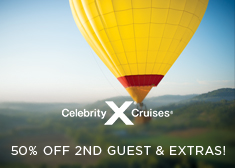 Celebrity: 50% Off 2nd Guest & Extras!