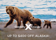 Celebrity: Up to $400 Off Alaska Cruises!