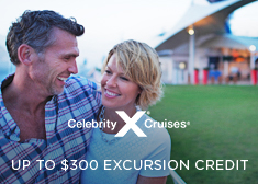 Celebrity: Up to $300 Shore Excursion Credit