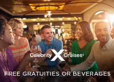 Celebrity: Free Gratuities OR Beverages