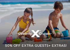 Celebrity: 50% Off Extra Guests + Freebies