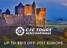 CIE Tours: Up to $613 Off 2017 Europe