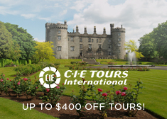 CIE Tours: Up to $400 Off Tours!