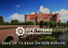 CIE Tours: Save up to $400 on 2018 Europe!