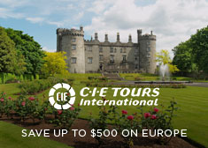 CIE Tours: Save up to $500 on Europe