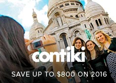 Contiki: Save up to $800 on 2016