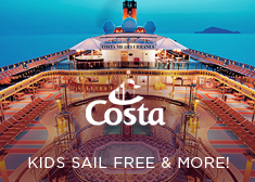 Costa: Kids Sail Free & Onboard Credit