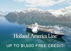 Holland America: Up to $1,500 Onboard Credit
