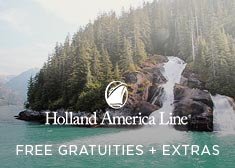 Holland America: Free Gratuities + Extras