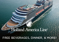Holland America: Free Beverages, Dinner, & More!