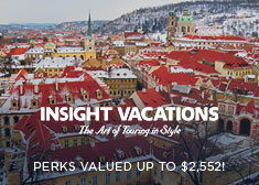 Insight Vacations: Perks Valued up to $2,552!