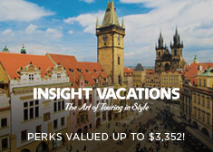 Insight Vacations: Perks Valued up to $3,352!