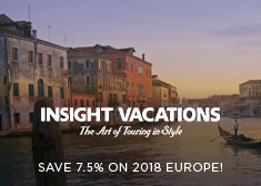 Insight: Save 7.5% on 2018 Europe!