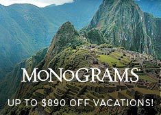 Monograms: Up to $890 Off Vacations!
