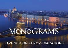 Monograms: Save 20% on Europe Vacations
