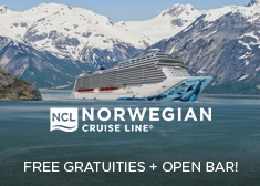 Norwegian: Free Gratuities + Open Bar!