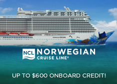 Norwegian: Up to $600 Onboard Credit!