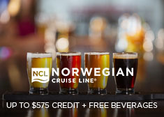 Norwegian: Up to $575 Credit + Free Beverages!